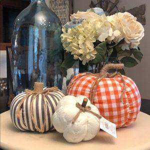 🆕 Set of 3 Fabric Pumpkins